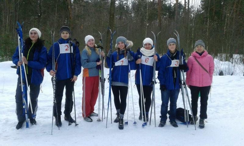 Сборная ГГТУ имени П.О.Сухого - победители районной лыжни