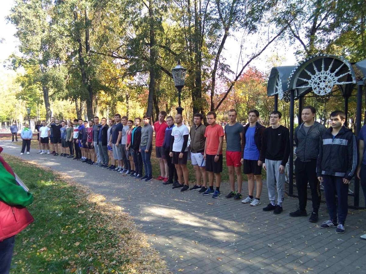 Осенний легкоатлетический кросс на машиностроительном факультете