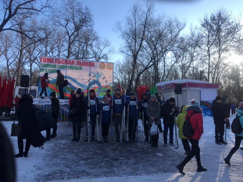 Студенты ГГТУ имени П.О.Сухого приняли участие в Дне снега
